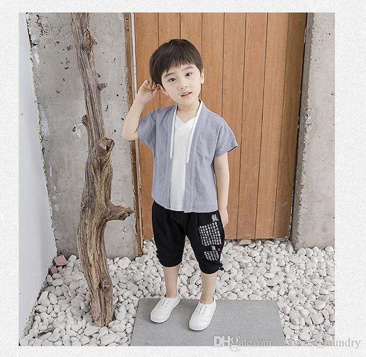 Chinese style boy suit, baby national style Tang suit, children's Han suit Chinese style suit