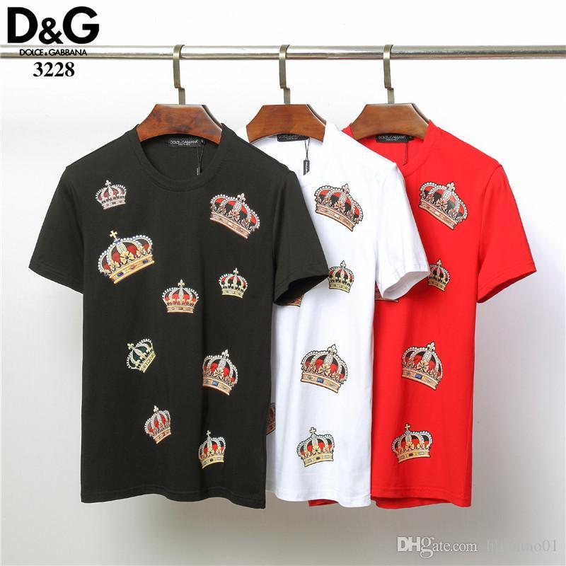 f1c51adc New Arrive 2019 Summer Style T Shirt Hip Hop Printing Crown Design T Shirt  Fashion Brand Tee Shirts Men Tops Tees 3228 Shirt T Shirt Tee From  Hliantao01, ...