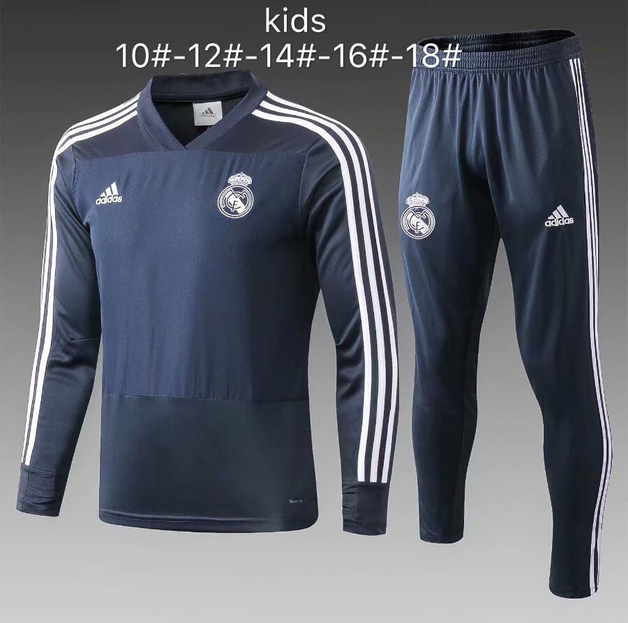 buy online 807da b1619 kid Real Madrid Ajax Bayern FC PSG soccer MBAPPE Jerseys maillot de foot  SURVETEMENT FOOTBALL jacket tracksuit set