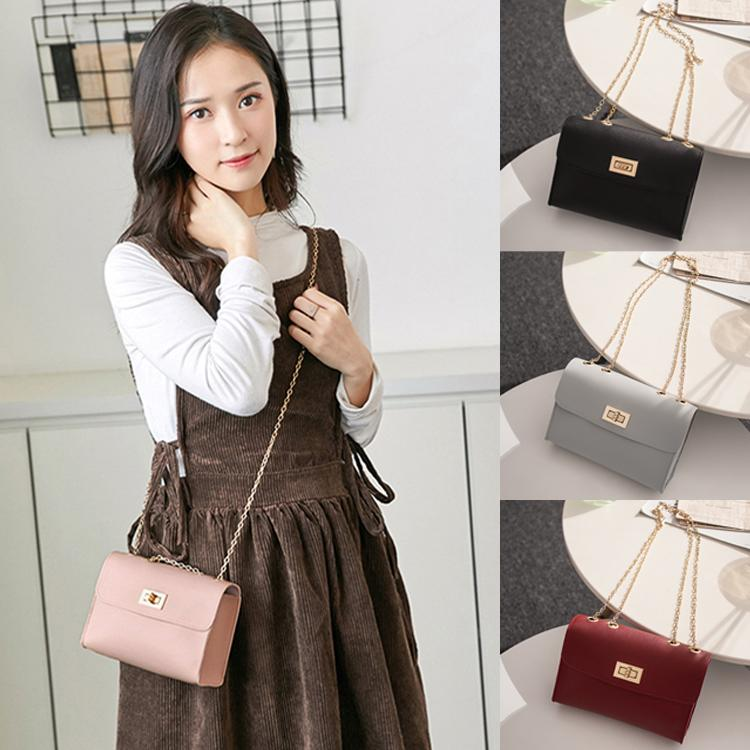 British Fashion Simple Small Square bag 4 colors Girl designer crossbody bag PU Leather Chain Mobile Phone shoulder bag AJY617