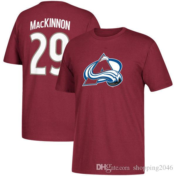 size 40 99d83 02117 Men s Colorado Avalanche t-shirts 9# Matt Duchene Black Sport jersey 29#  Nathan Mackinnon Red Hockey Jerseys 3D printing stitched mens