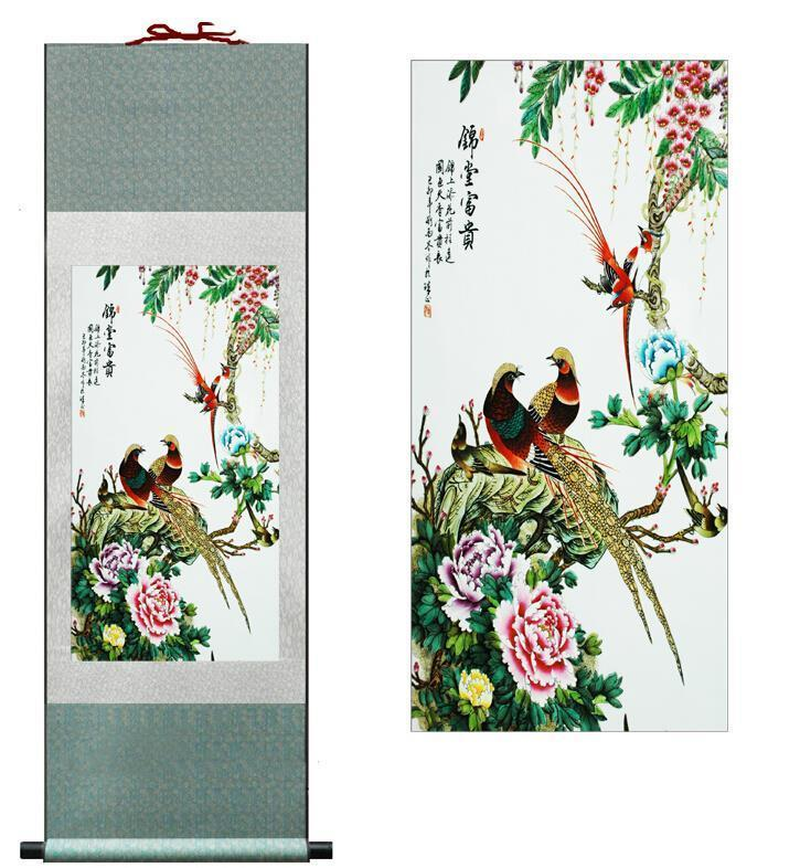 Birds And Flowers Super Quality Traditional Chinese Art Painting Home Office Decoration Chinese Paintingprinted Painting