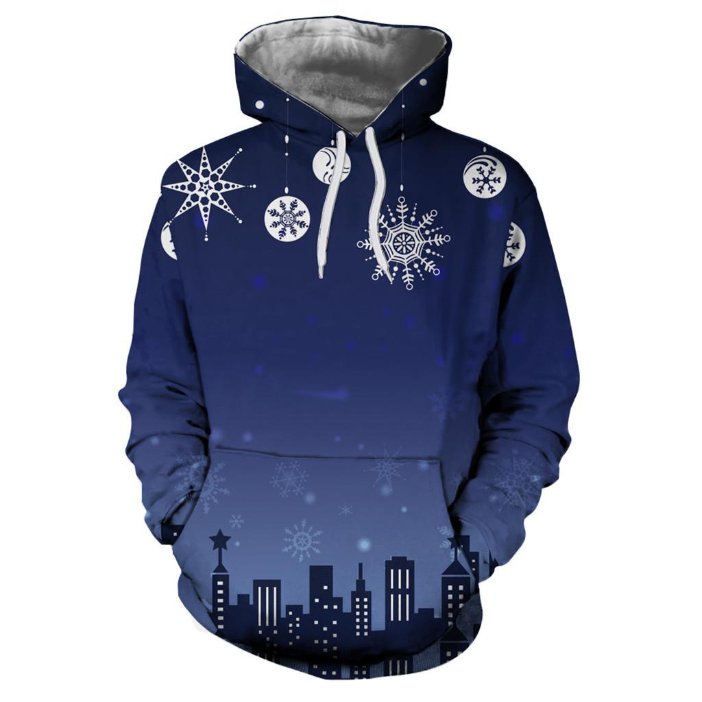 31f5bfb255ab 2019 Harajuku Mens 3D Printed Christmas Blue Pullover Casual Autumn Winter  Warm Unisex Hoodies Unisex Sweatshirt Tops Size M 3XL From Hannahao