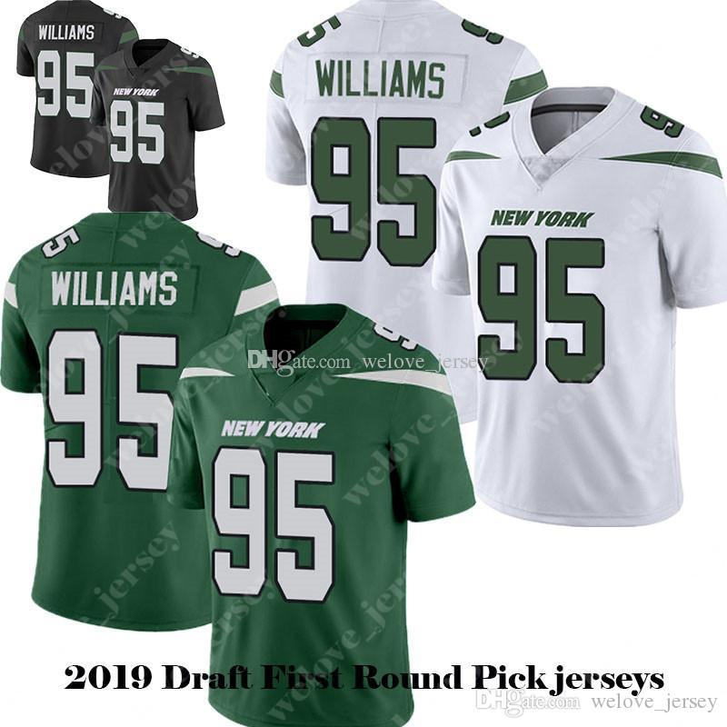 pick up 93753 bffad New York 95 Quinnen Williams Jets jersey 1 Kyler Murray 8 Daniel Jones 99  Clelin Ferrell 97 Nick Bosa 2019 Draft First