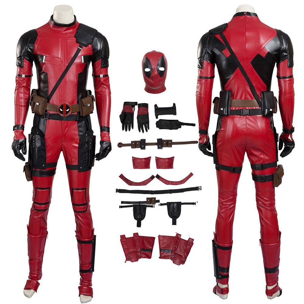 Deadpool Costume Deadpool Cosplay Wade Wilson Man Red Cool Full Set