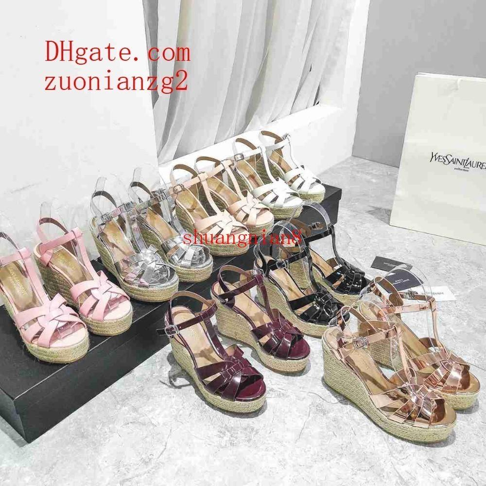 Women's summer new versatile breathable casual trend color fashion straw wedges platform sandals
