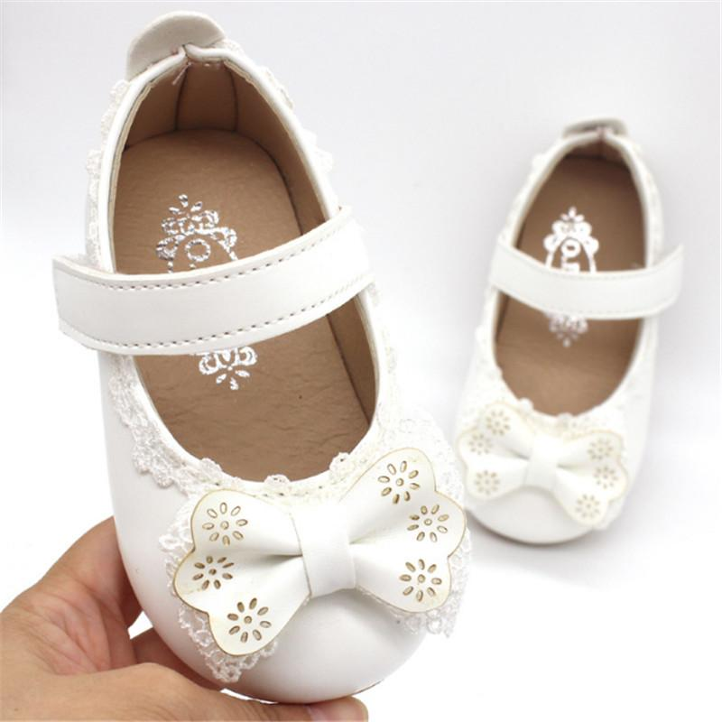 Xinfstreet Soft Baby Girls Shoes Leather Infant Shoes Cute Toddler Child Kids Bowknot Princess For Girls Size 15-25