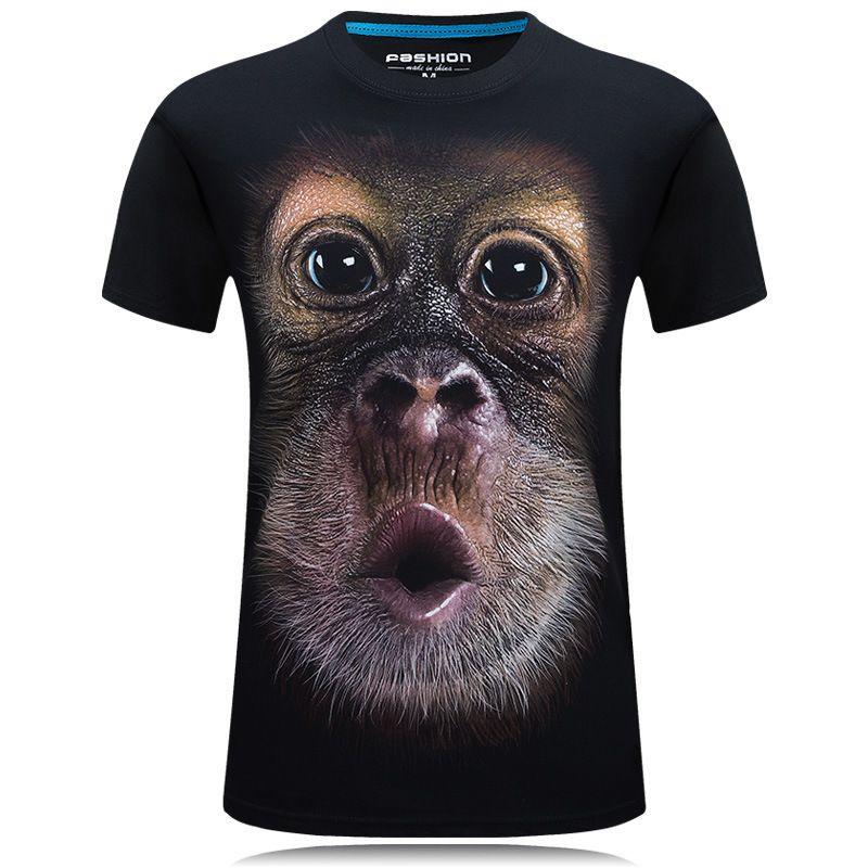 43b271ff 2019 Summer Mens Animal T Shirt Orangutan/Gas Monkey/Wolf 3d Printed T  Shirts Men Funny Tees Tops Tee Shirt Large Size Hilarious T Shirts Designer  T Shirt ...