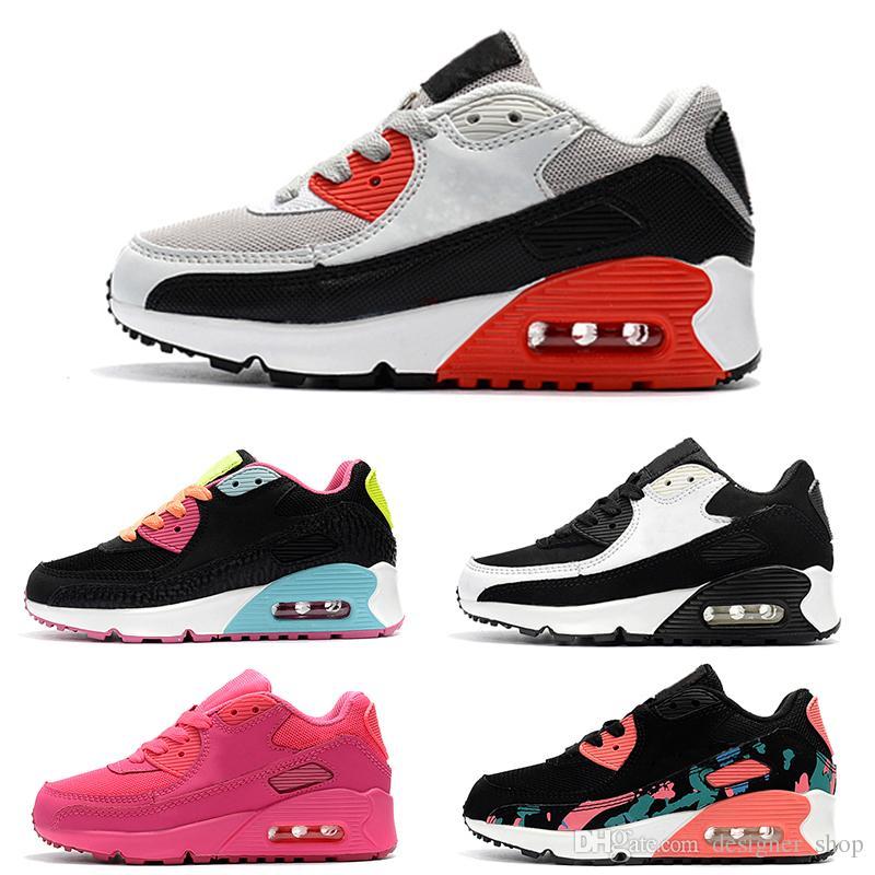 Nike air max 90 Zapatillas de deporte para niños Zapato Presto 90 II Niños Deportes Ortopédicos Jóvenes Entrenadores para niños Infant Girls Boys