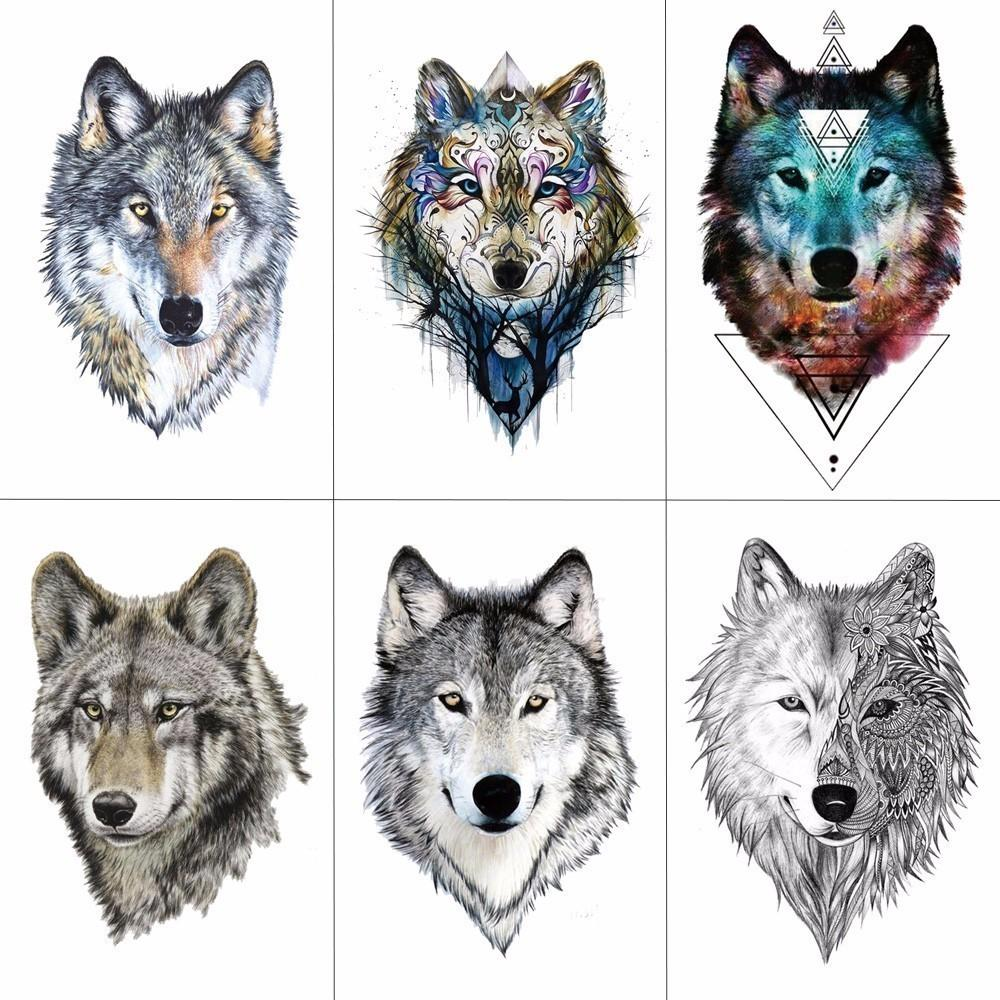 75e25e2ab TCOOL Wolf Temporary Tattoo Stickers Waterproof Women Fake Hand Animal  Tattoos Adult Men Body Art 9.8X6cm A 085 D19011202 Create A Tattoo Free  Online Create ...