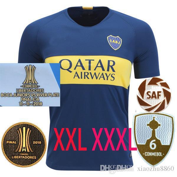 new products bac23 6f29c XXL XXXL 2018 2019 20 Boca Juniors HOME Soccer JerseyS 18 19 GAGO OSVALDO  PEREZ Benedetto TEVEZ HOME Football jersey shirts