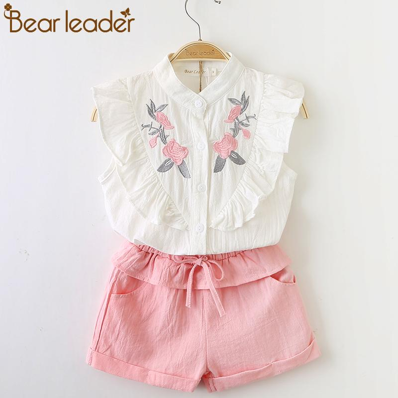 6dd825a0ca3639 Bear Leader Girls Clothing Sets 2018 New Summer Girls Clothes Sleeveless T  Shirt+Shorts Kids Clothing Sets For 3 7 Years Pink Dresses For Teens  Sundresses ...