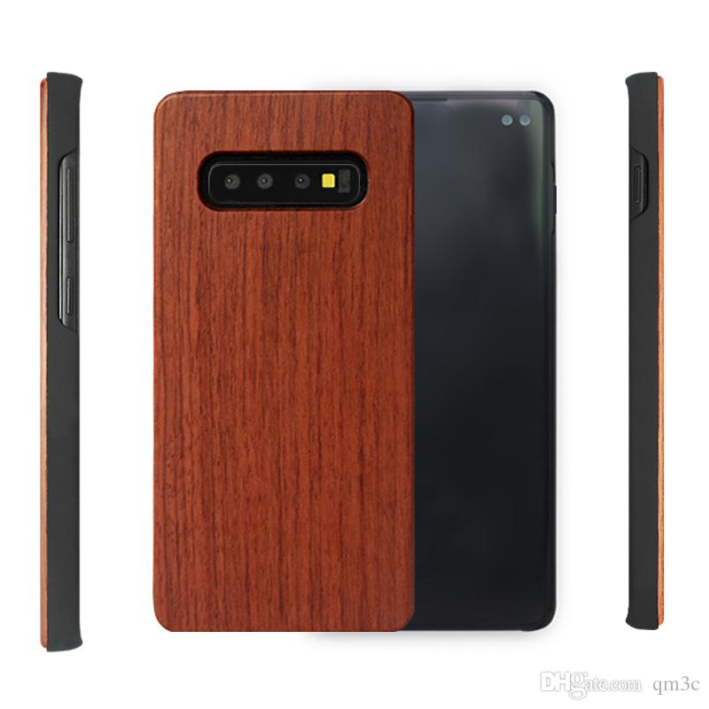 reputable site 65e6f 6dca3 Wooden phone cover for samsung galaxy s10e s10 plus customized wooden  mobile phone case shockproof s9 s8 note 9 note 8