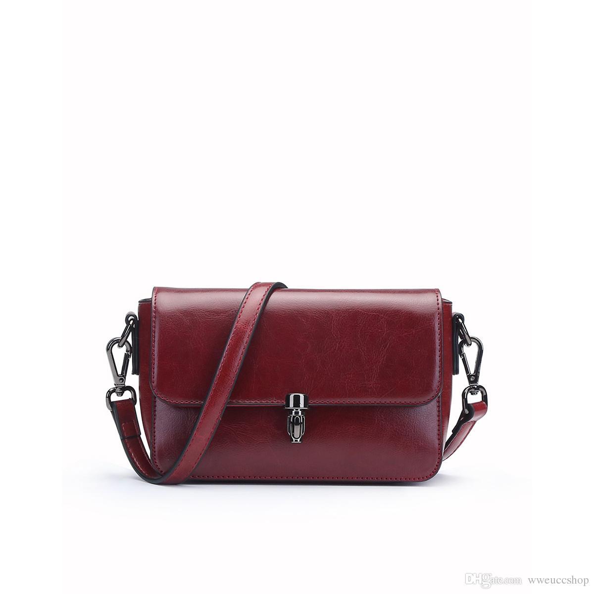 39730e41f8 Acquista Nuova Borsa A Spalla Femminile Rosso Vino Femminile Diagonale  Croce In Pelle Retrò Piccola Borsa Quadrata Moda Donna Messenger Bag  Portatile A ...
