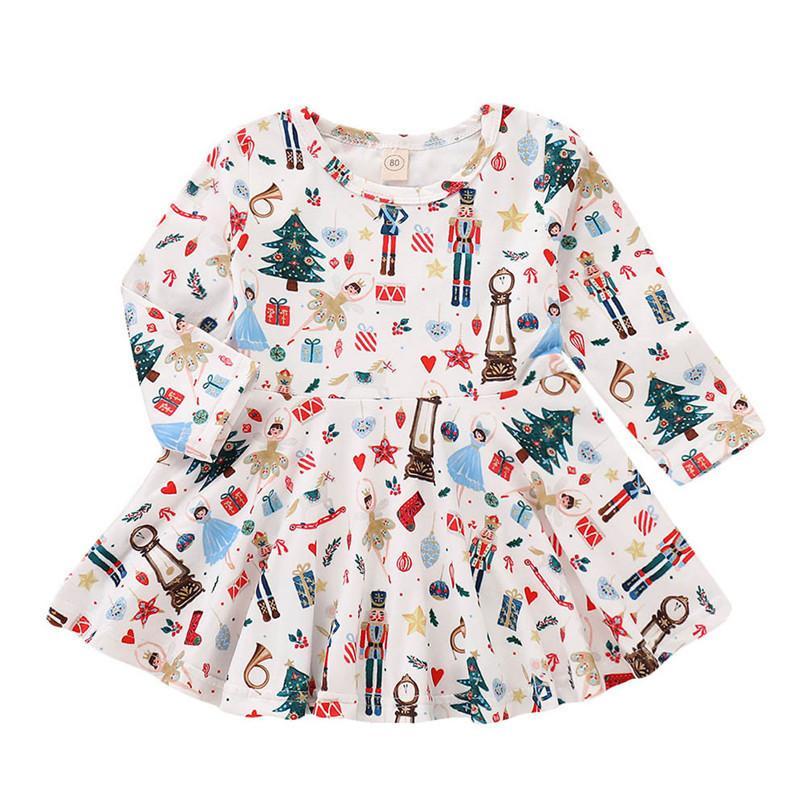 Acquista Vestiti Di Natale Vestiti Della Ragazza Manica Lunga Ragazze  Vestono Toddler Bambino Ragazze Dei Capretti Albero Del Fumetto Vestito Da  Partito ... a6c974f990b