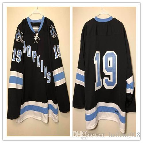 official photos 8d617 cb0ec Vintage Johns Hopkins Blue Jays Hockey Jersey Embroidery Stitched Customize  any number and name Jerseys.