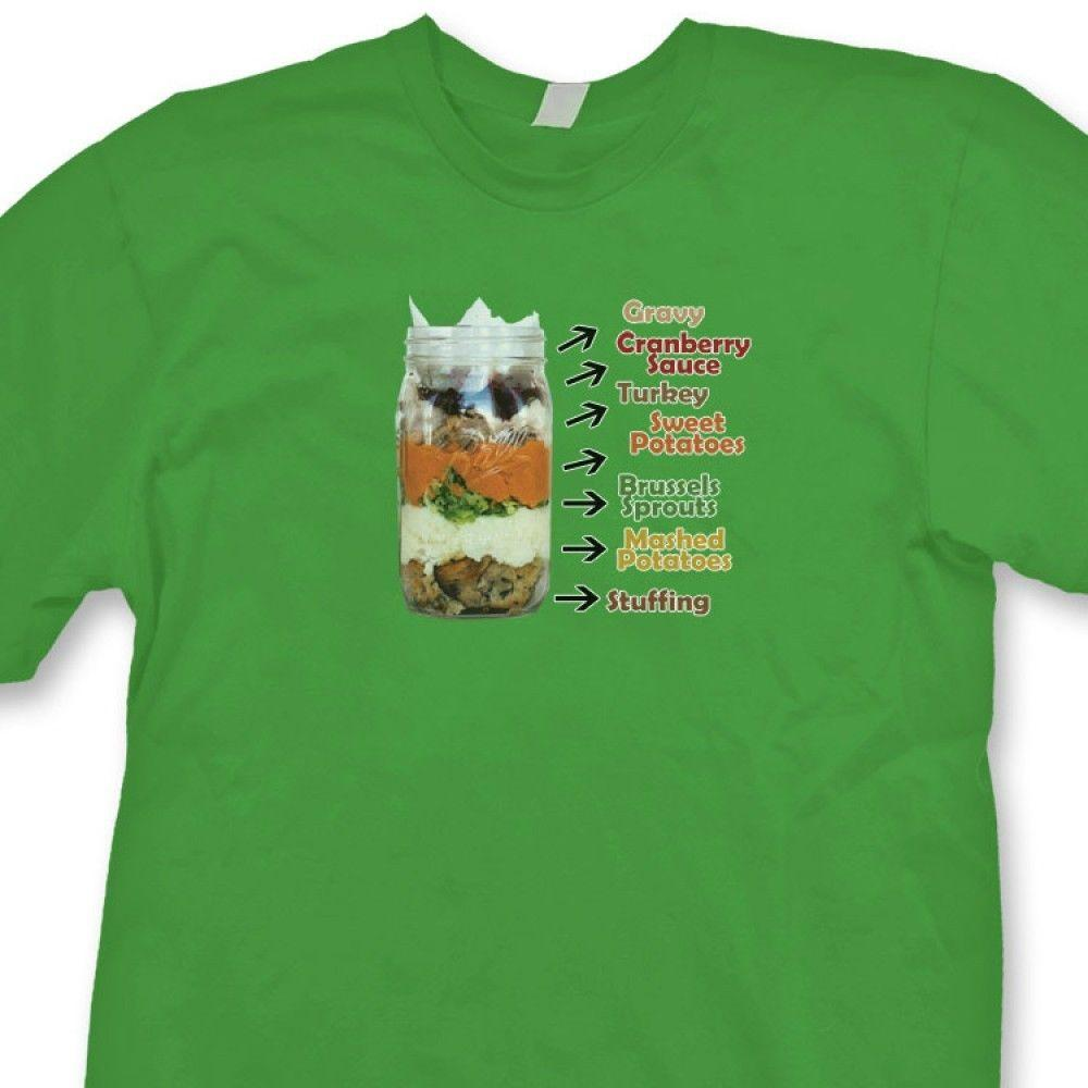 93a9c76fdffa1 Thanksgiving In A Jar Funny T Shirt Holiday Novelty Gift Tee ShirtFunny  Unisex Casual Tshirt Top Design And Buy T Shirts Tee Shirt Online Shopping  From ...