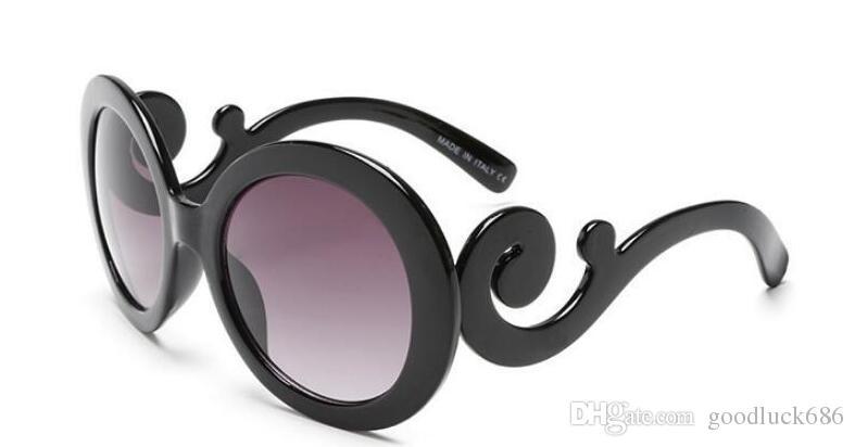 Compre Italiy Milan Design Marca Gafas De Sol Mujeres Auspicioso Estilo De  Moda De La Pierna De La Nube Gafas De Sol Redondas Gafas De Protección Gafas  De ... 7fcb3e105400