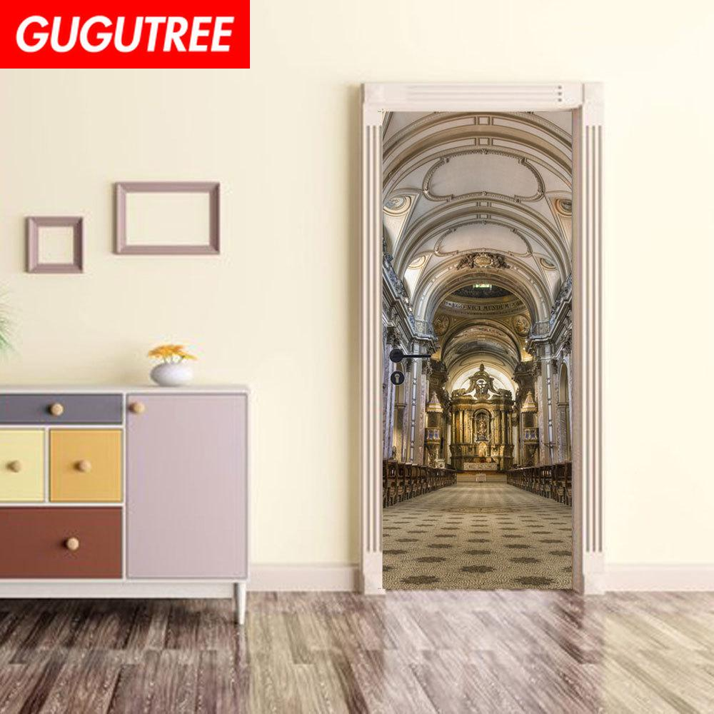 Decorate Home 3D church wall door sticker decoration Decals mural painting Removable Decor Wallpaper G-785