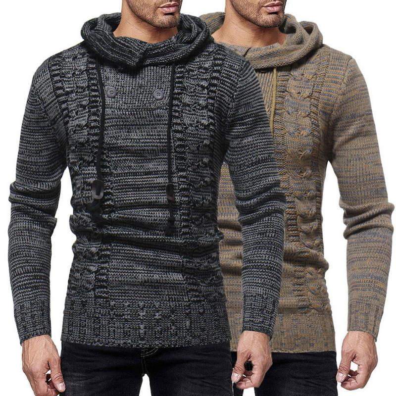 Fashion Casual Sweater Coat Mens Slim Fit Button Warm Knitting ... 226553ab1