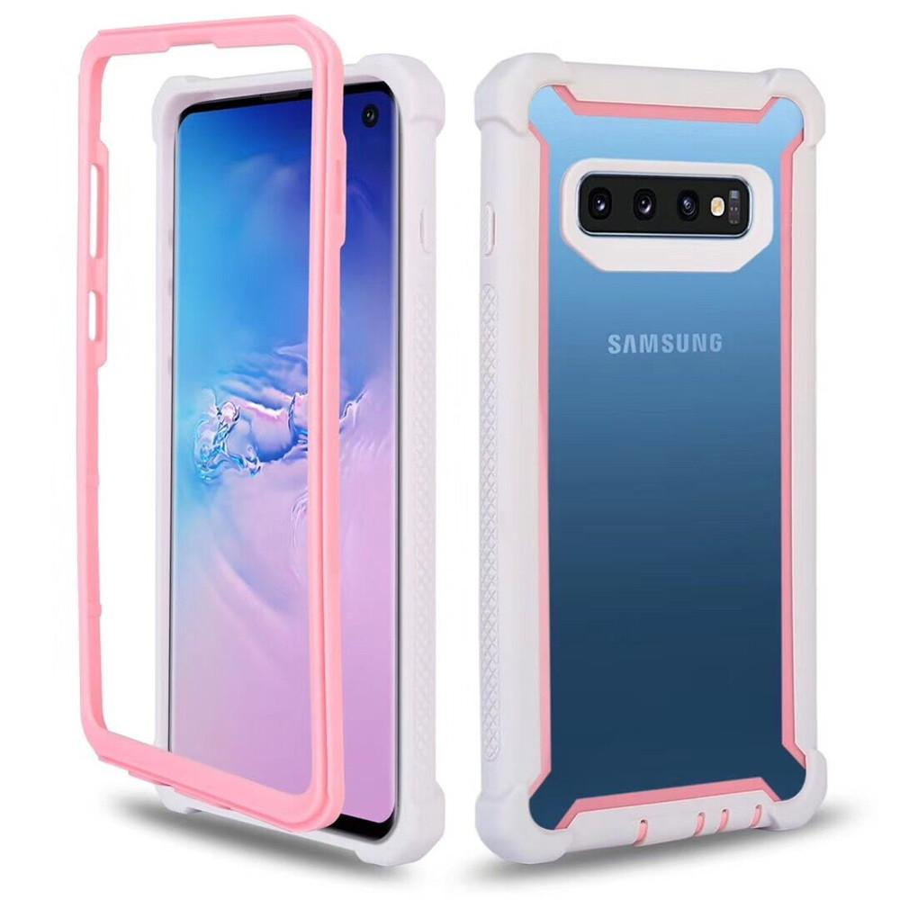 7937b809de6 Fundas Movil Para Samsung S10 Funda De Cuerpo Entero Claro Suave TPU Duro  PC Contraportada Funda Para Teléfono Para Galaxy S10 Plus S10E Fundas De  Celulares ...