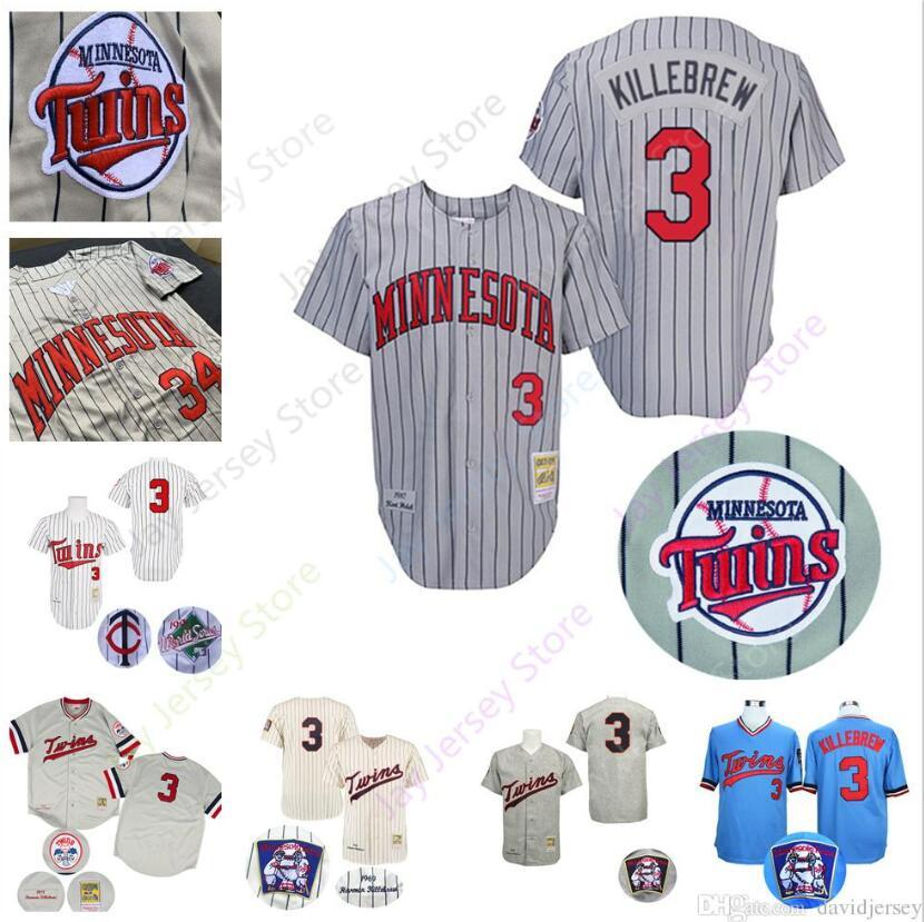 6765339d52b 2019 Harmon Killebrew Jersey Twins Cooperstown 1991 WS World Series  Minnesota Baseball Jerseys Grey Pinstripe White Blue Cream Pullover 2019  From Morejersey ...