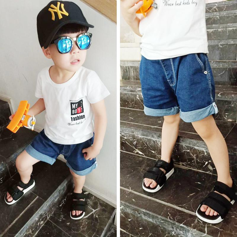 88d3549bfe29 2019 Summer Boy Jeans Shorts Children'S Pants Korean Stretch Shorts ...