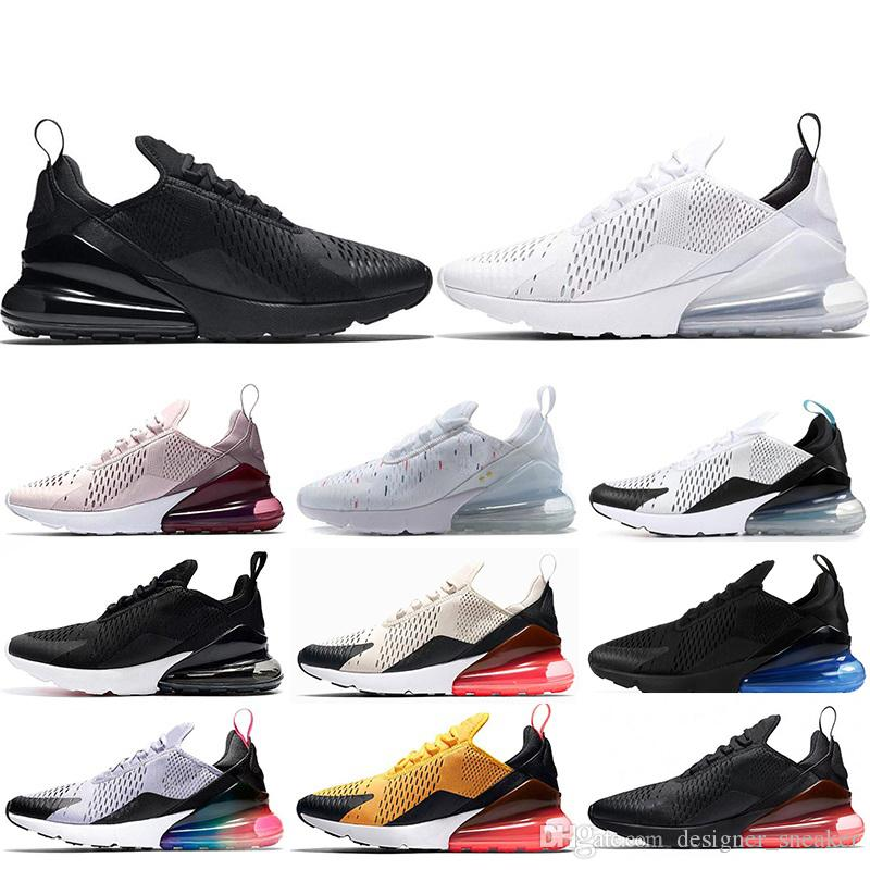 pretty nice b5182 320d5 Nike Air Max 270 Hombres Zapatillas Zapatos Cactus Tigre Triple Negro Blanco  Rosa Zapatillas Zapatos Deportivos Zapatillas Tamaño 36 45 Por  Designer sneaker ...