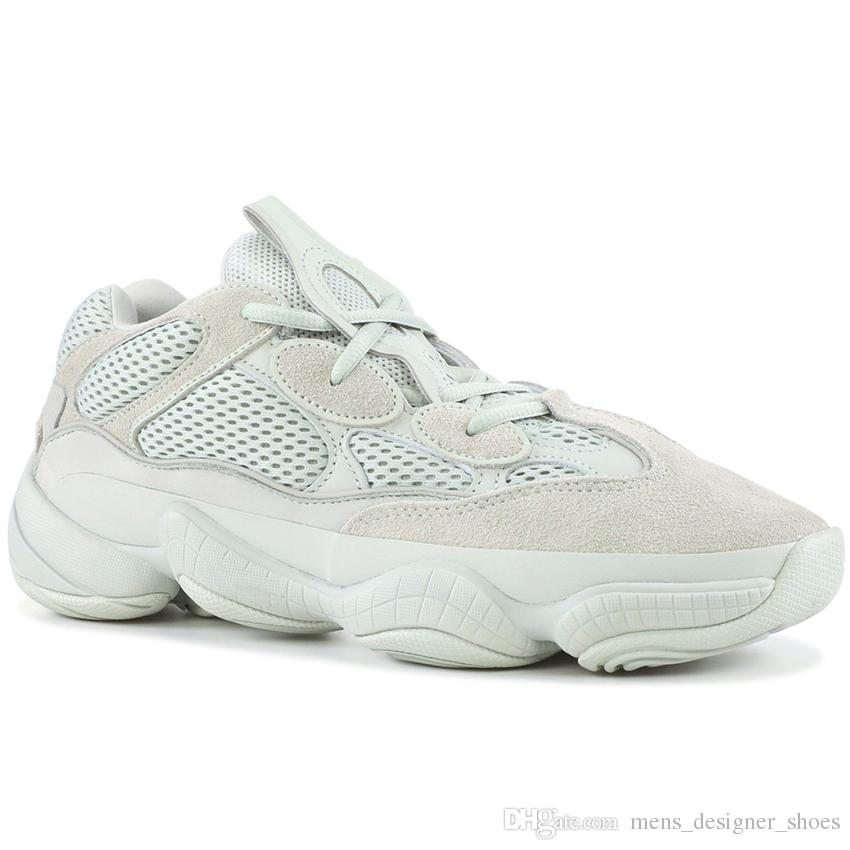 pretty nice 69301 1db05 Desert Rat 500 Salt EE7287 Running Shoes Mens Womens Utility Black F36640  Blush DB2908 Super Moon Yellow Kanye West Designer Sneakers 36-46