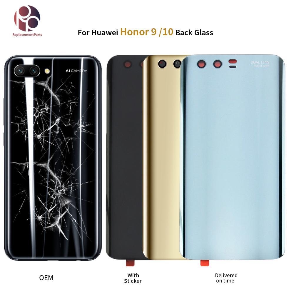 438ed59f852 Personalizar Carcasas OEM Para Huawei Honor 9 10 Cubierta De Batería Trasera  De Vidrio Panel De La Carcasa De La Puerta Trasera Para Honor9 Lite Funda  Con ...