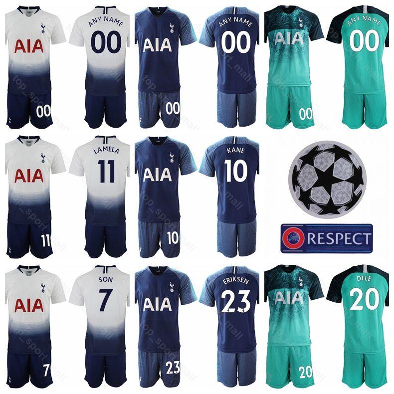 Compre Hot Spur 2018 2019 Homens De Futebol Harry Kane Jersey Set Premier  League Erika Lamela Dele Alli Mousa Dembele Camisa De Futebol Kits Uniforme  Branco ... af437b9f2447b