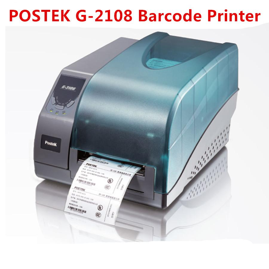 Postek G-2108 Barcode Printer Thermal/Thermal Transfer Label Printer  Jewelry label/Commodity Label/Logistics Label