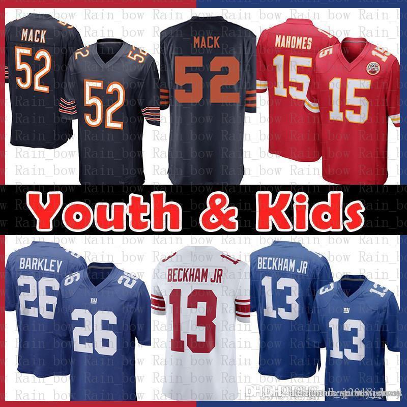 Youth 12 9 Chicago Bears 52 Khalil Mack Kansas City Chief Jersey 15 Patrick Mahomes Ii New York Gaints 26 Saquon Barkley 13 Odell Beckham Jr