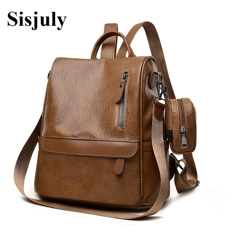 38d1a58a15 Sisjuly New Fashion Designer Backpacks Women Leather Backpack School Bags  For Girls Multifunction Backpack With Purses Sac A Dos Swissgear Backpack  Swiss ...