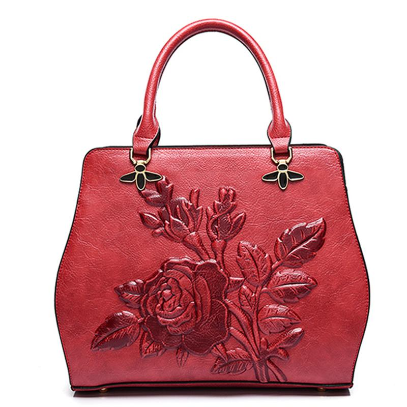 8df657e9b76e New Autumn And Winter Fashion Women Designer Pu Leather Messenger Bags  National Floral Handbag For Female Ladies Shoulder Bags Over The Shoulder  Bags Hobo ...