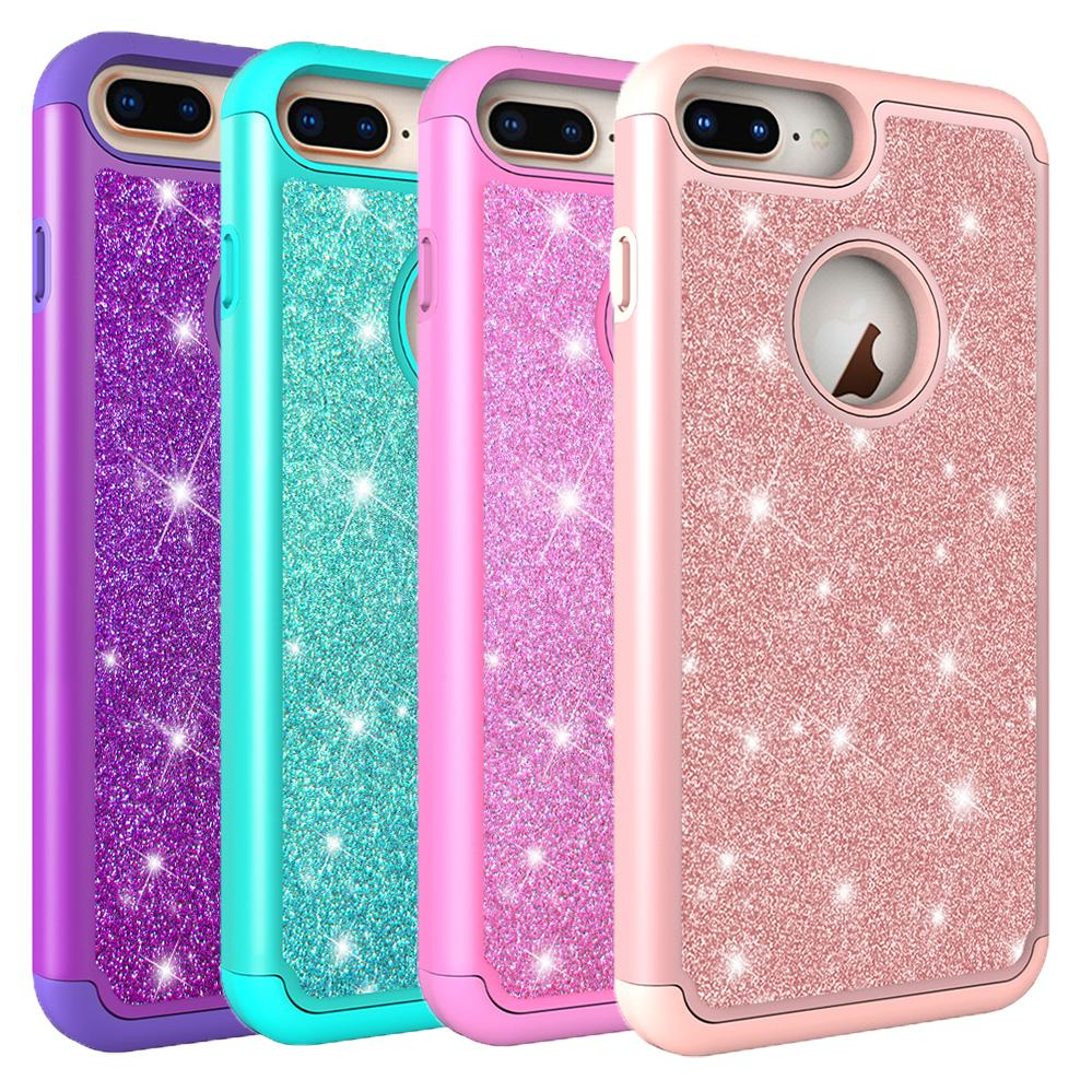 promo code 46f53 e85b0 For Iphone 8 Plus Case Women Phone Case Luxury Glitter Shiny Bling Back  Cover Protective Case for Iphone Xs Max