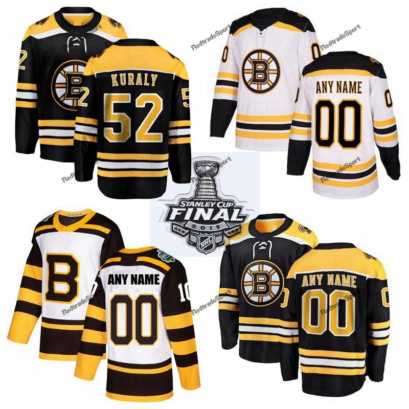 timeless design af0de 2d9a7 2019 Stanley Cup Final Boston Bruins Sean Kuraly Hockey Jerseys Mens #52  Sean Kuraly Black Stitched Shirts Custom Name Number