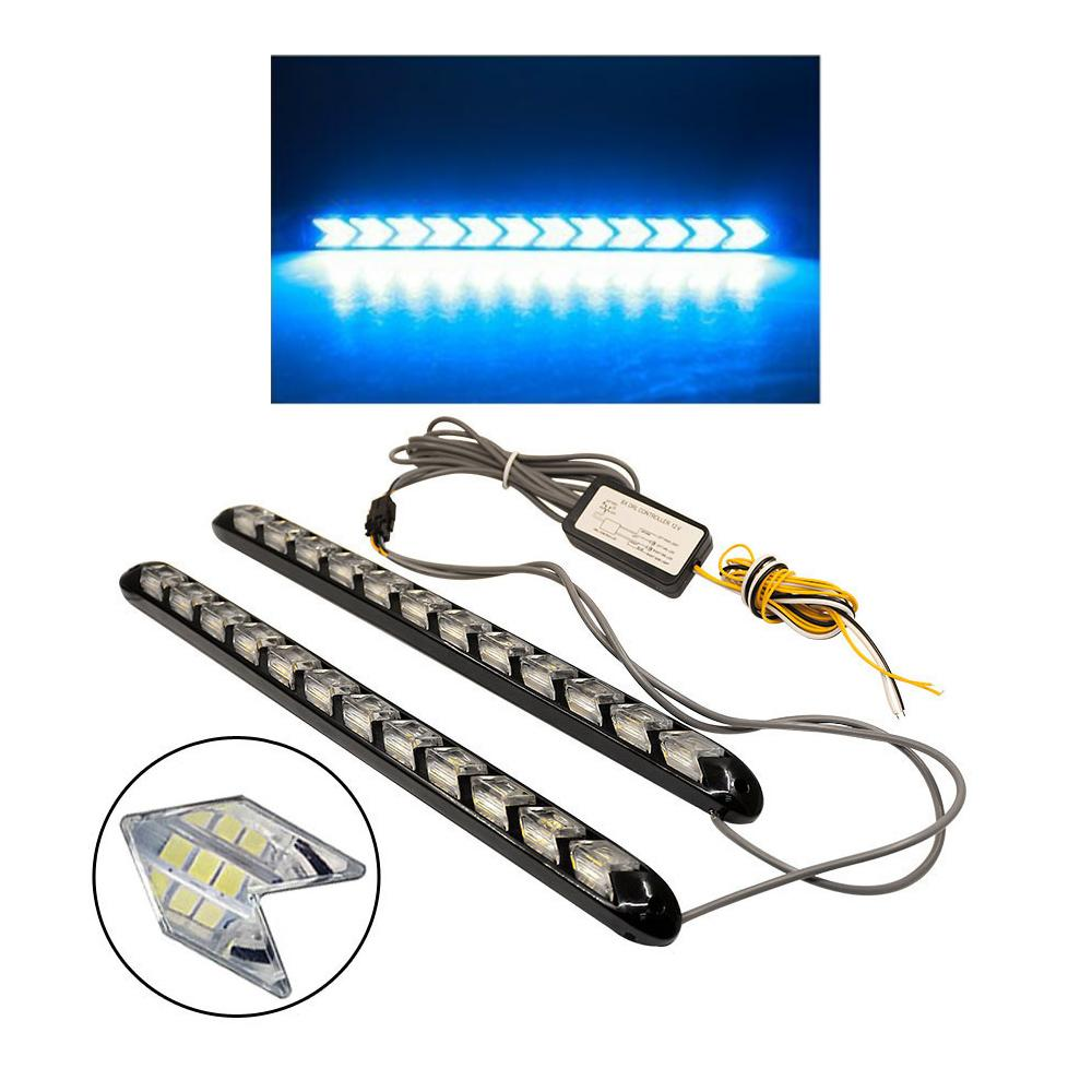 2019 Car Drl Turn Signal Waterproof Lights Styling White