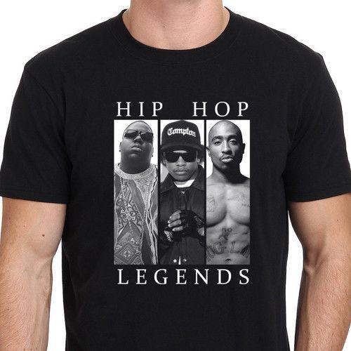96e1edb8b94b Hip Hop Legends NEW Graphic T Shirt 2 Pac Biggie Smalls Eazy E Tupac Sz S To  3XL Cool Casual Pride T Shirt Men Random T Shirts Poker T Shirts From ...