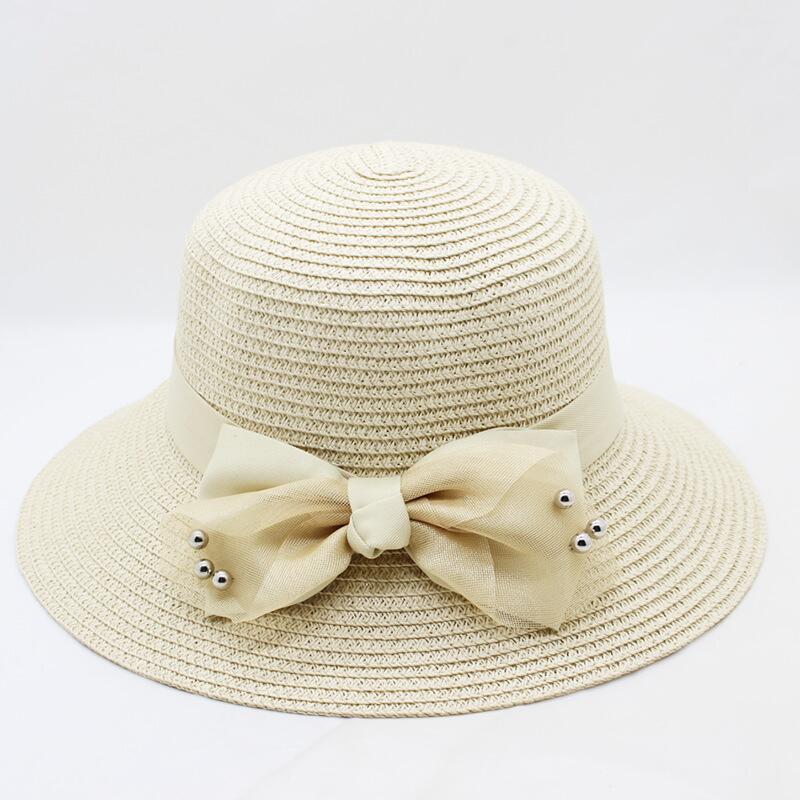 916dc8cc 2018 new straw hats for women's summer spring wide brim beach sun hats  large bow floppy sunhat,chapeau femme,chapeu de praia