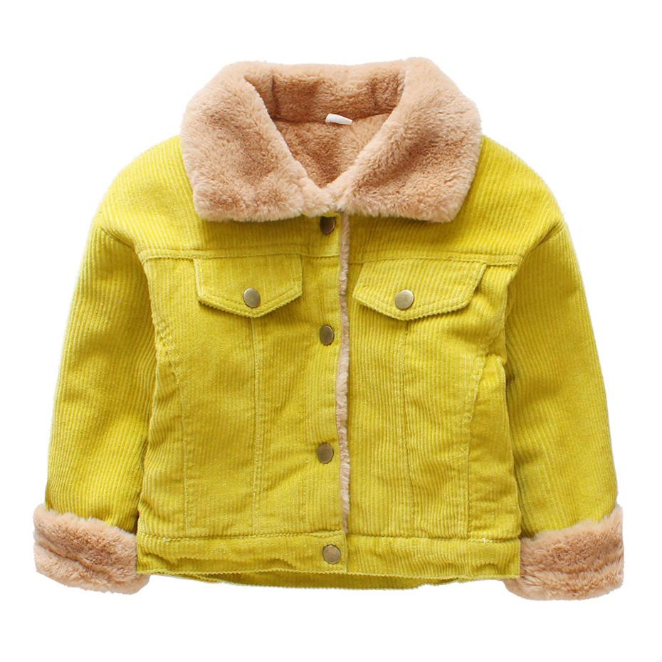 8aca59aea1e Jacket For Baby Boys 2018 Autumn Boys Denim Jackets Fur Winter Kids  Outerwear Thick Warm Toddler Boys Clothes 2 5 Years Little Boys Jackets  Childrens ...