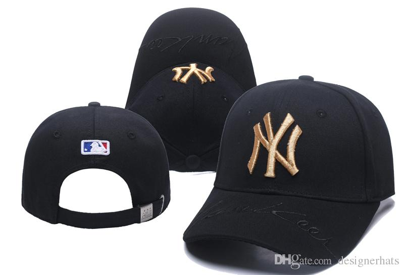 7c4dba6fdd2 2018 Hats For Man And Woman Snapbacks Baseball Hat Men And N Y Peaked Cap  Black Embroidery Yankees Hats White Autumn And Winter Tide Brand Lids Cap  From ...