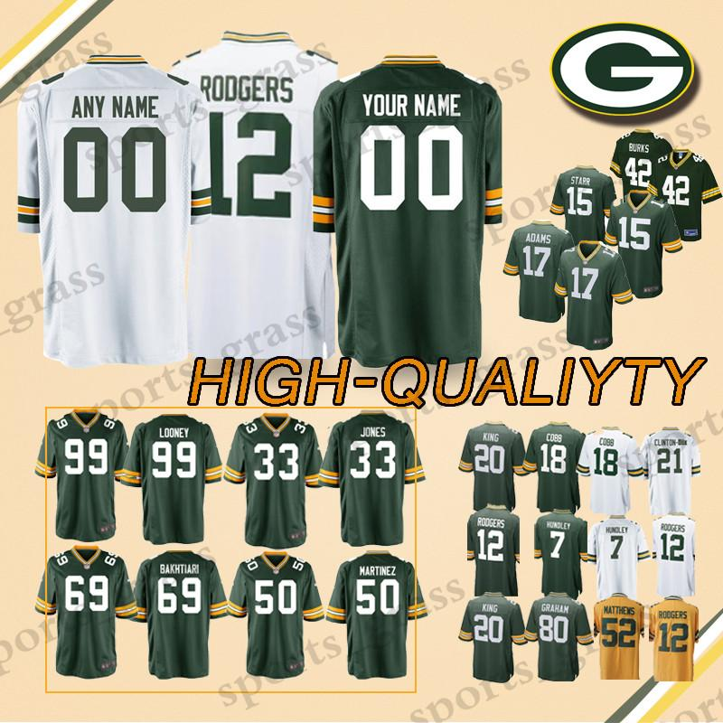 new style a9c94 b92b7 custom Game Green Bays Packer Jerseys 88 Ty Montgomery 17 Davante Adams 33  Aaron Jones 81 Geronimo Allison 15 Bart Starr Jersey men