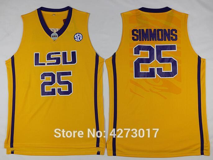 a5a0cc882c9 2019 2018 Ben Simmons  25 LSU White Purple Yellow Retro Top Stitched  Basketball Jersey Sewn Camisa Embroidery Logos XS 6XL Vest Jerseys Ncaa  From ...
