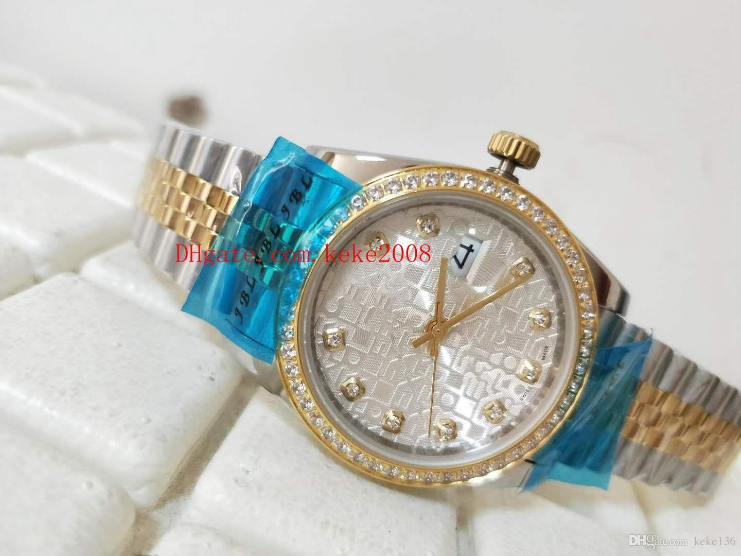 High quality Wristwatches Datejust 18K Gold & Steel 36mm 126283RBR 126283 Diamond border Mechanical Automatic Ladies Women's watch Watches