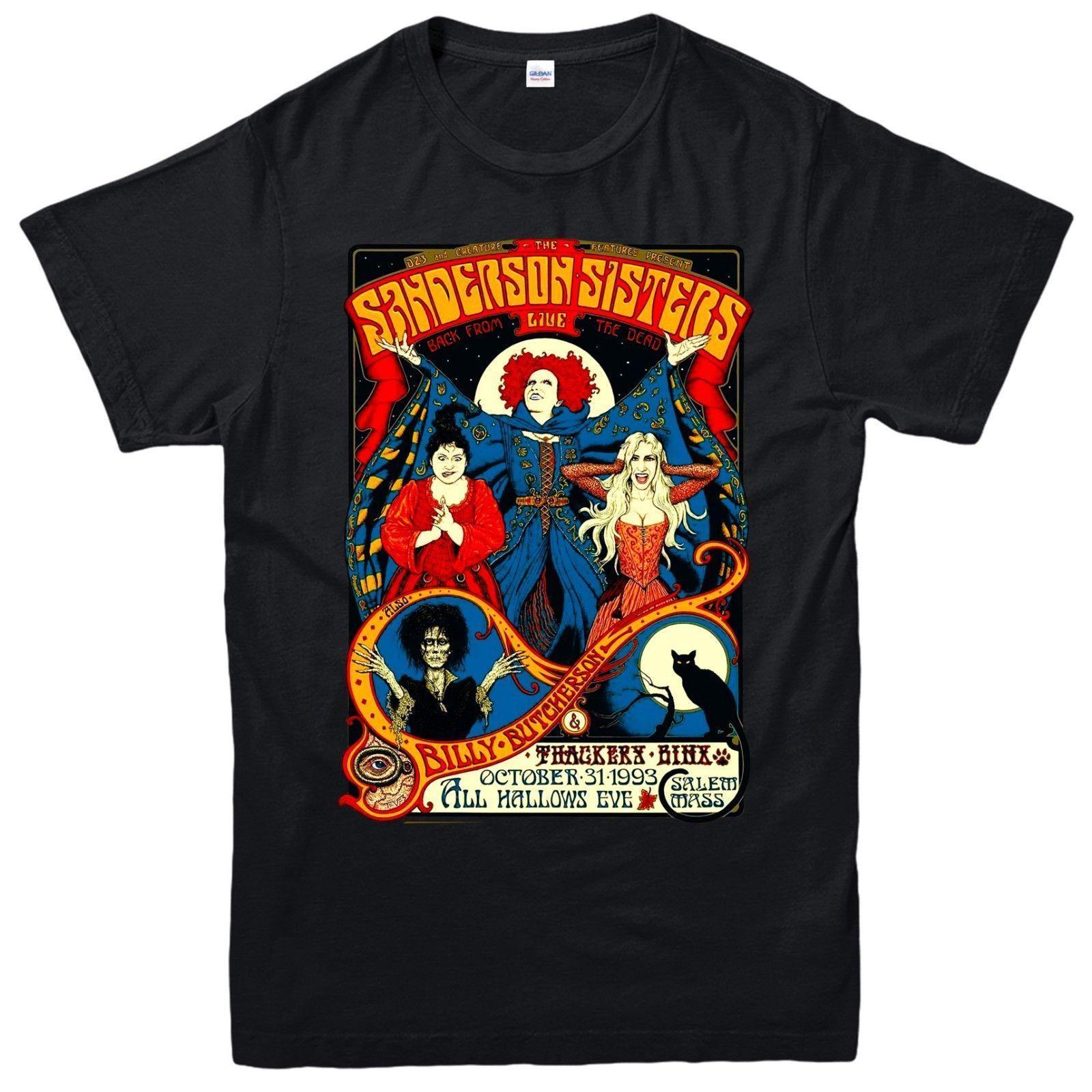 da148acb6 Details Zu Sanderson Sisters T Shirt Classic Retro Hocus Pocus Halloween  Adult Kids Tee Top Funny Unisex Cool Sweatshirts Online Random Funny T  Shirts From ...
