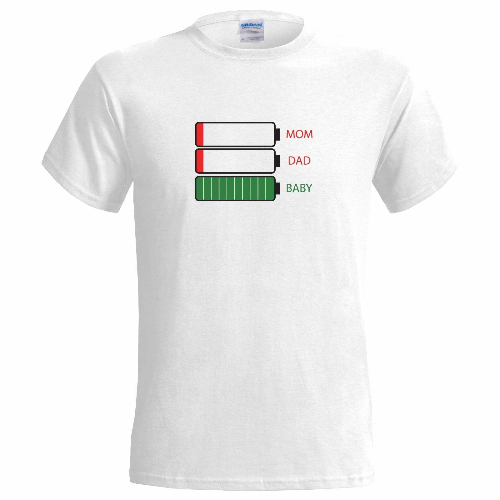 6605e144d Mom Dad Baby Batteries MENS T SHIRT Mum Father Tired New Worn Out Crying  Funny Suit Hat Pink T Shirt Funny T Shirts For Men Make T Shirts From  Pubcup, ...