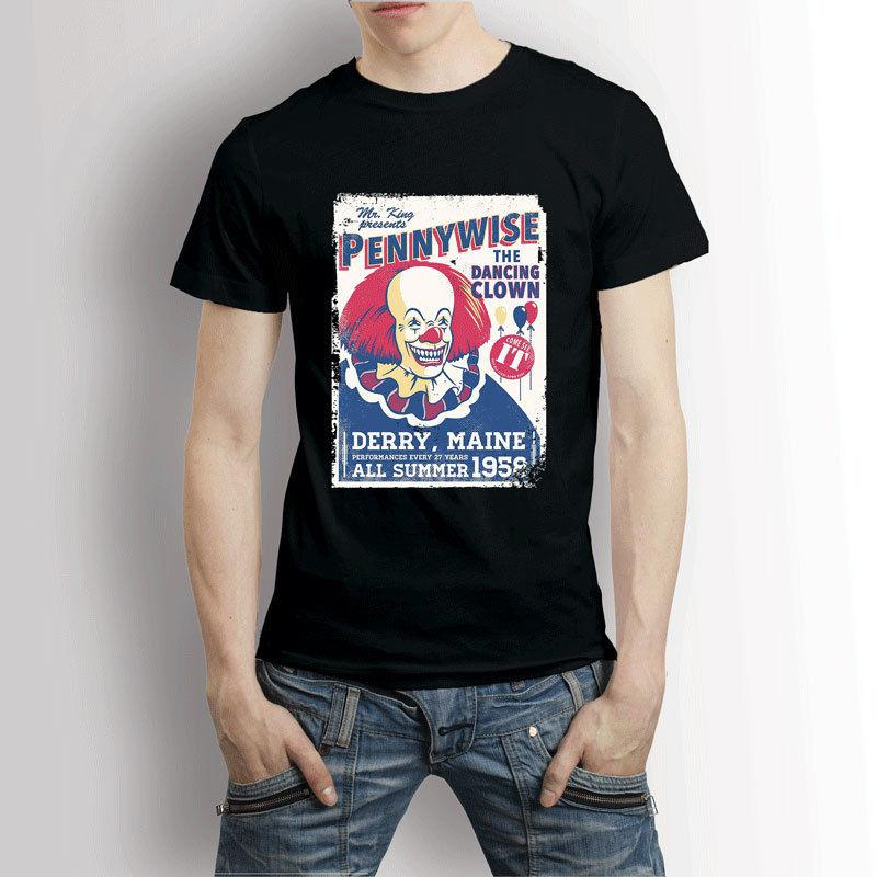 Pennywise Il Stephen King La danse T-shirt de clown hommes d'été à manches courtes T-shirt New Fashion Top Tee Plus Size