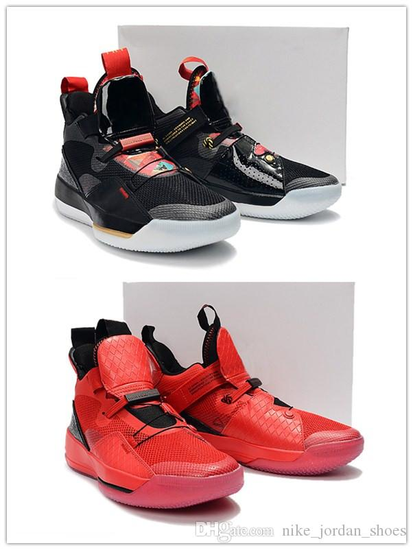 4ca4b91bd30837 2019 2019 Chinese New Year 33 University Red Black Sail White Men  Basketball Shoes Good Quality 33s Designer Outdoor Mens Sports Sneaker From  ...