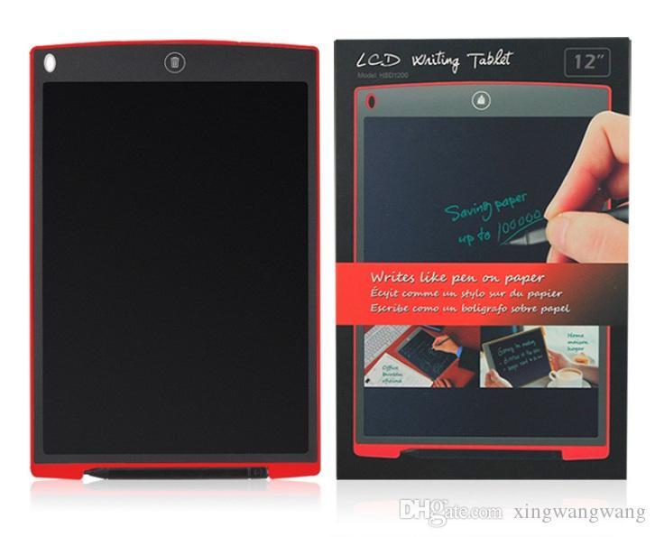 أفضل 12 بوصة LCD الكتابة مكتب الوسادة اللوحي التي تعمل باللمس مجلس الالكترونية المغناطيسي الثلاجة رسالة ستايلس الاطفال تاريخ الميلاد يوم عيد الميلاد هدايا 12INCH